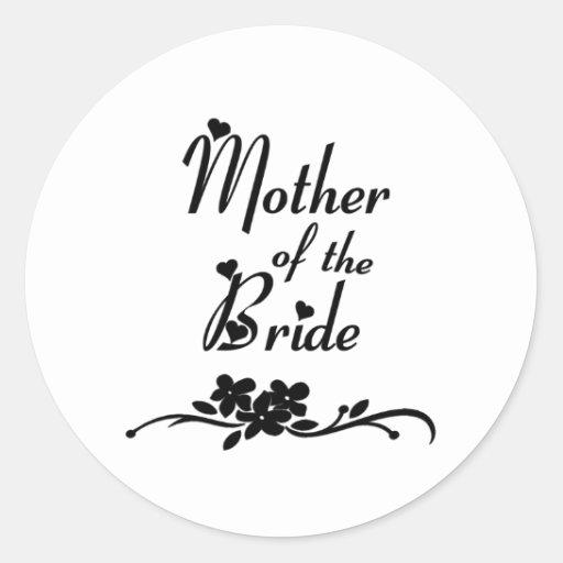 Madre clásica de la novia pegatina redonda