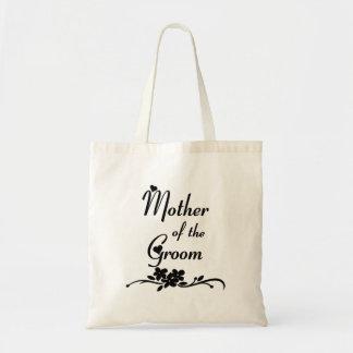 Madre clásica del novio bolsa lienzo