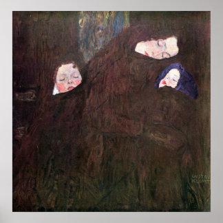 Madre con los niños de Gustavo Klimt Poster