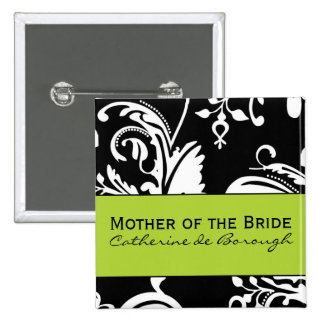 Madre cuadrada de B&G del botón de la novia Pin Cuadrado