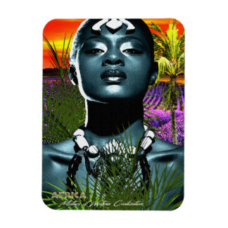 Madre de África de la civilización occidental Imán De Vinilo