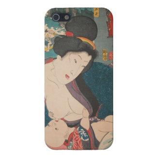 Madre de amamantamiento de Japón 1900's iPhone 5 Fundas