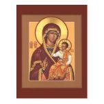 Madre de dios de la tarjeta del rezo de siete lago postal