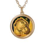 Madre de dios Glykophilousa -- Collar del icono