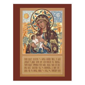 Madre de dios la tarjeta del rezo del tarjeta postal