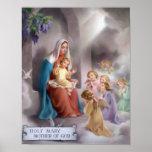 Madre de dios, la Virgen Santa, poster de Maria