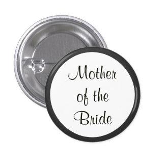 Madre de encargo del boda de los botones de pin redondo de 1 pulgada
