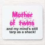 Madre de gemelos alfombrilla de ratón