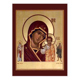 Madre de Kazán de la tarjeta del rezo de dios Postal