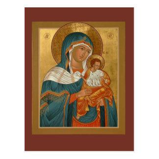 Madre de Konevitsa de la tarjeta del rezo de dios Postal