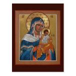 Madre de Konevitsa de la tarjeta del rezo de dios Postales
