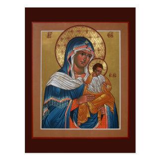 Madre de Konevitsa de la tarjeta del rezo de dios Tarjeta Postal