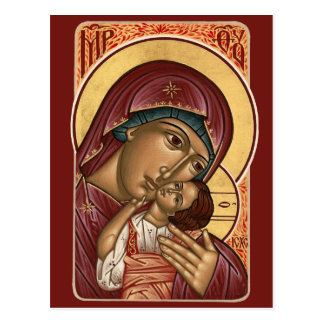 Madre de Korsun de la tarjeta del rezo de dios Tarjeta Postal