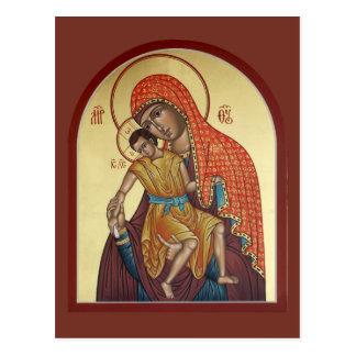 Madre de Kykkos de la tarjeta del rezo de dios Postales