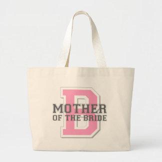 Madre de la alegría de la novia bolsa tela grande