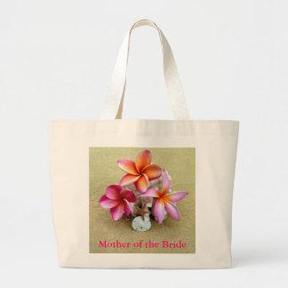Madre de la bolsa de asas tropical de la novia
