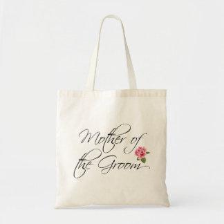 Madre de la caligrafía del novio y subió bolsa tela barata