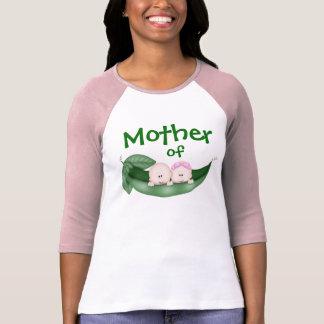 Madre de la camiseta mezclada de los gemelos