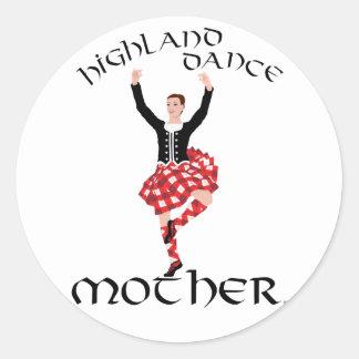 Madre de la danza de la montaña pegatina redonda