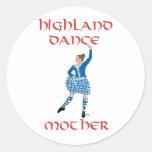 Madre de la danza de la montaña - trullo etiquetas redondas