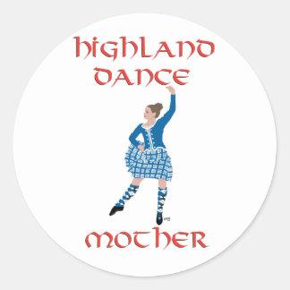 Madre de la danza de la montaña - trullo pegatina redonda