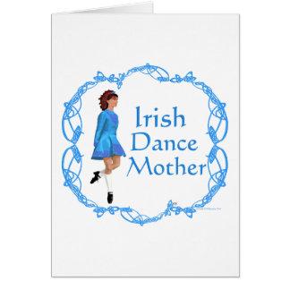 Madre de la danza del irlandés - azul tarjeta de felicitación