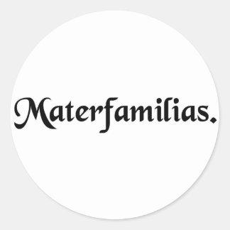 Madre de la familia etiquetas redondas