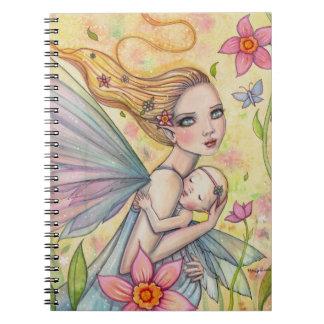 Madre de la maternidad y ejemplo de hadas del bebé cuadernos