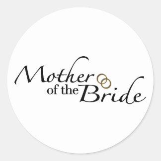 Madre de la novia 2 pegatina redonda