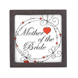 Madre de la novia caja de joyas de calidad