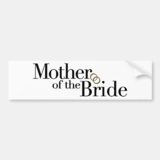 Madre de la novia pegatina de parachoque