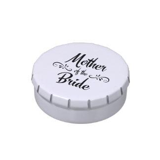 Madre de la novia - cena divertida del ensayo latas de dulces