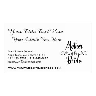 Madre de la novia - cena divertida del ensayo tarjetas de visita
