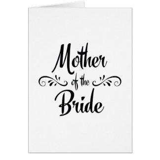 Madre de la novia - cena divertida del ensayo tarjeta de felicitación