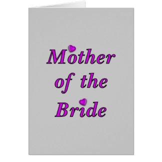 Madre de la novia del amor simplemente felicitacion