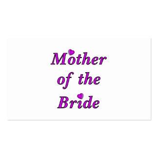 Madre de la novia del amor simplemente tarjetas de visita
