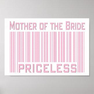Madre de la novia inestimable póster