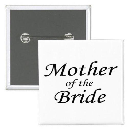 Madre de la novia pin cuadrada 5 cm