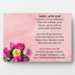Madre de la novia - placa de los rosas