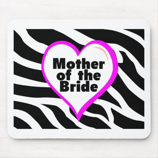 Madre de la novia (rayas de la cebra del corazón) alfombrillas de ratones