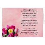 Madre de la novia - rosas tarjeta de felicitación