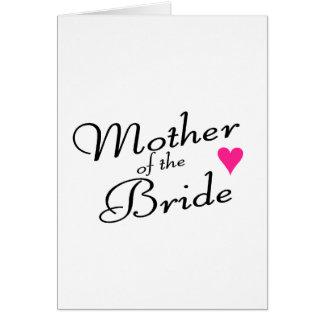 Madre de la novia tarjetón