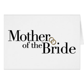 Madre de la novia tarjeta de felicitación