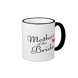 Madre de la novia taza a dos colores