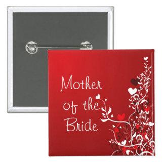 Madre de la novia ---- Voluta roja Pins