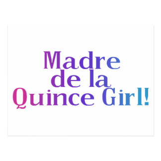 Madre De la Quince Girl Postcard