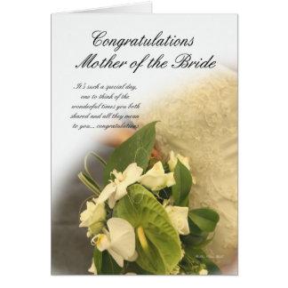 Madre de la tarjeta de la enhorabuena de la novia