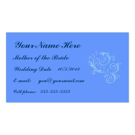 Madre de la tarjeta de visita de la novia