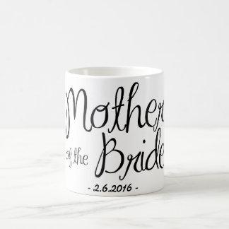 Madre de la taza de café de la novia