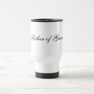 Madre de la taza del viaje del novio